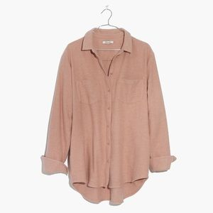 Madewell Pink Flannel Sunday Shirt